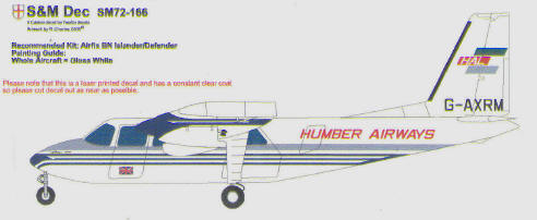 Britten Norman Islander (Humber Airways) (S&M models SM72-166)