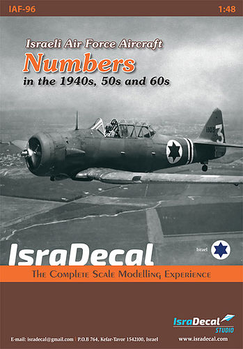 Numbers for Israeli Air Force aircraft from the 1940s, 50s and 60s.  IAF-96