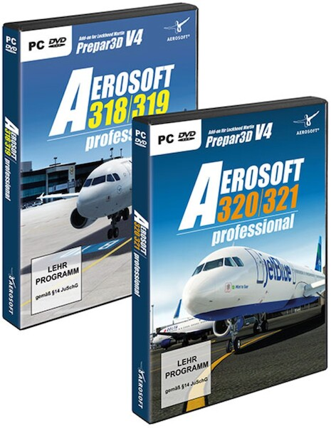 Aerosoft A320 Family professional Bundle (download version) Now including  Paint kit  (Aerosoft AS14397)