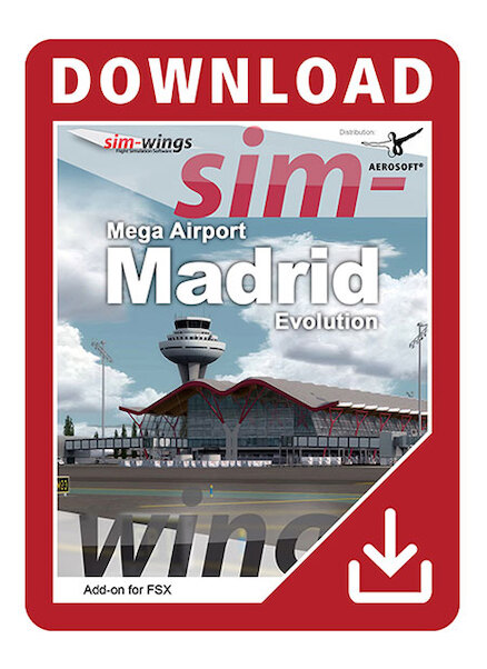 Mega Airport Madrid Evolution (Download version) (Aerosoft 14554-D)