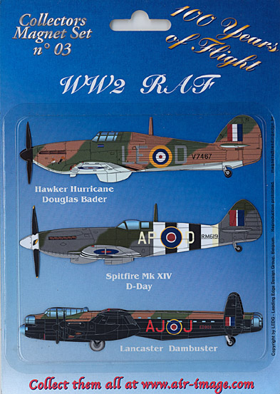 Fridge Magnets set: World War II: RAF (LAST STOCK!)  MAGNETS 03