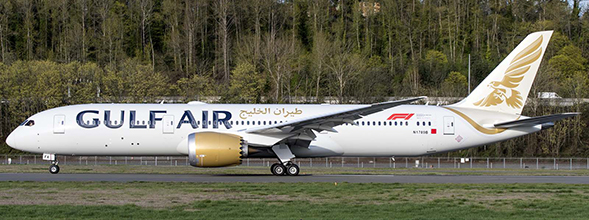 B787-9 (Gulf Air) A9C-FA With Stand  XX2134