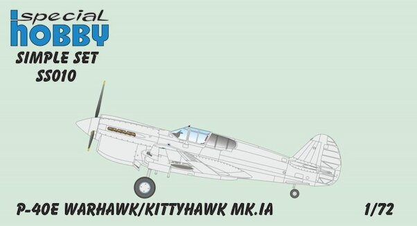 Curtiss P40E Warhwk/Kittyhawk MK1 (No Decals)  ss010