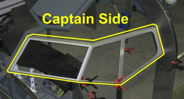 B737 Cockpit window frame (Captain and F/O side) (Engravity 737CWF737)