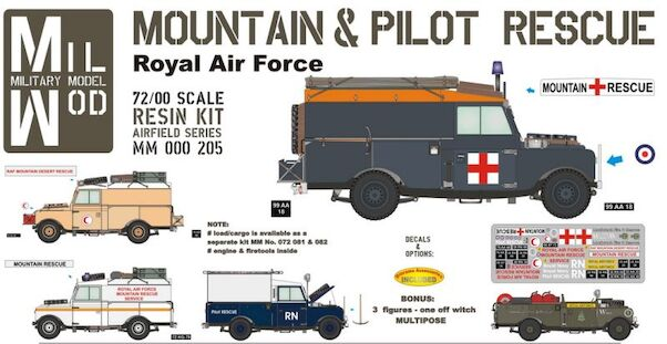 Land Rover Srs 1 107 inch, Pilot rescue (RAF Mountain Rescue)  MM000-205