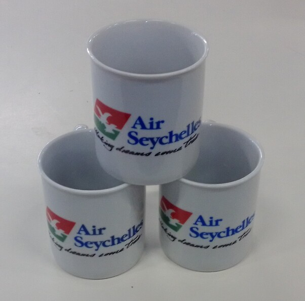Mug Airline Tail design one side: Air Seychelles -  Making Dreams come true  MOK-AL-SEY