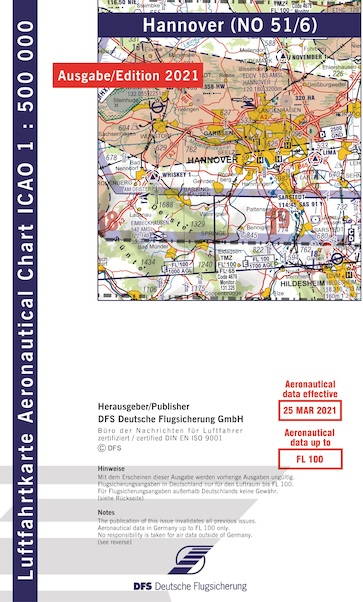ICAO chart Germany Hannover 2021  51-6