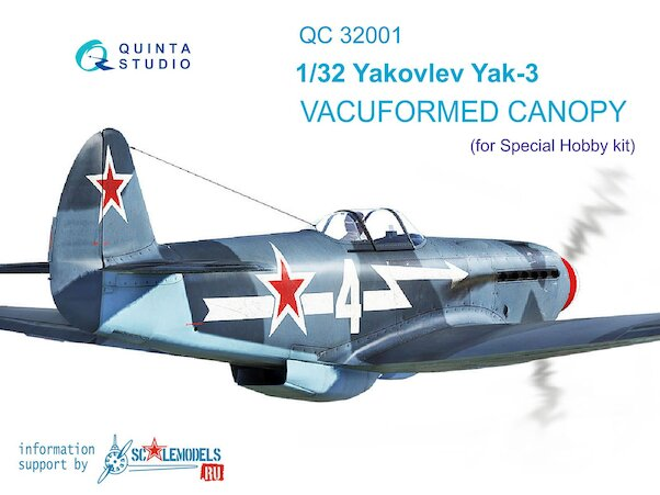 Canopy Yakovlev Yak3 For Special Hobby  QC32001