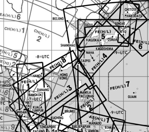 High and Low Altitude Enroute Chart Far East FE(H/L)3/4