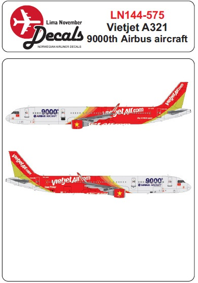 Airbus A320 (Vietjet VN-A651 9000th Airbus Aircraft colours)  LN144-575