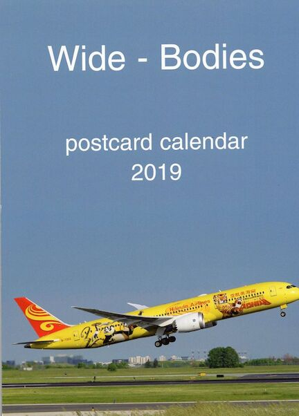 Wide-Bodies postcard calendar 2019  JJ-2019