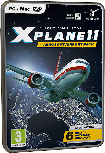 XPlane11 + Aerosoft Airport Pack (Box Version)  4015918145862