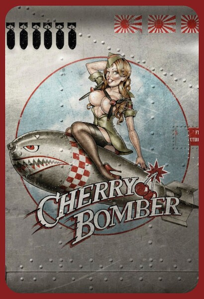 Cherry Bomber Pin up metal poster metal sign  AV0018