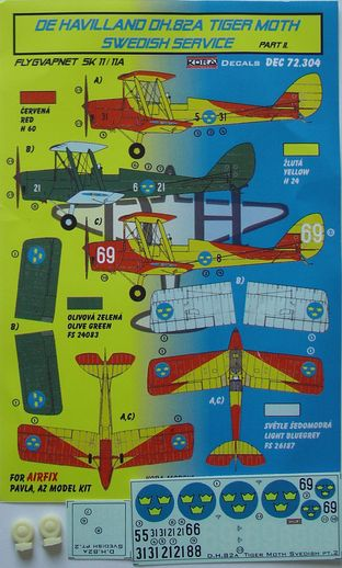 De Havilland DH82A Tiger Moth (Swedish AF) part 2  KDEC72304