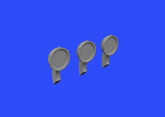 P51D Mustang Rear View Mirrors (Airfix)  E648359