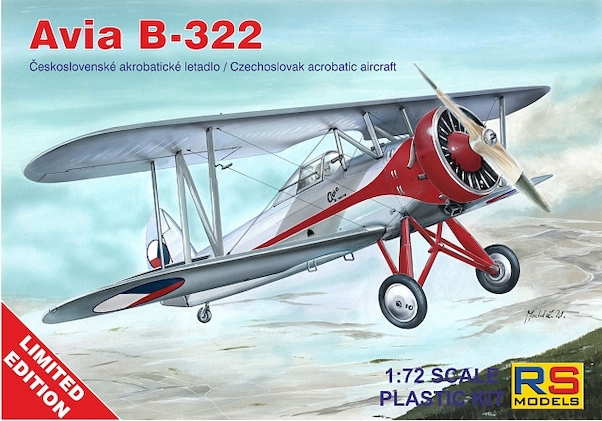 Avia B-322 Czechoslovak Aerobatic Aircraft  RS94002