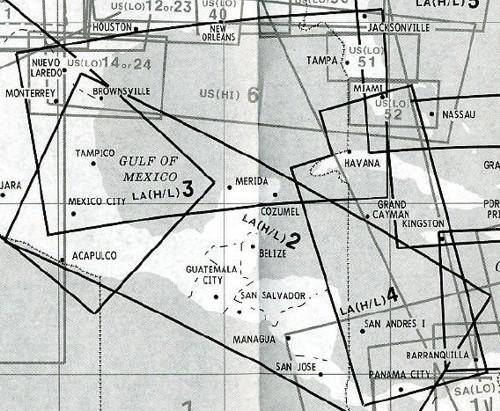 High and Low Altitude Enroute Chart Latin America LA(H/L)3/4