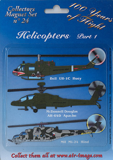 Fridge Magnets set: Helicopters Part 1 - Anti tank  MAGNETS 24