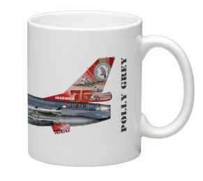 Mug 322 Squadron Polley Grey Leeuwarden 75 years F-16 J-879  MOK-322sq