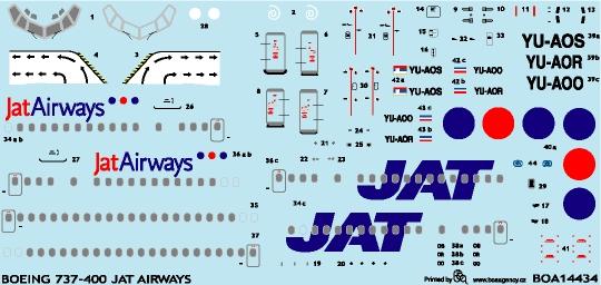 Boeing 737-400 (JAT Airways) (BOA Bodecek Agency boa14434)