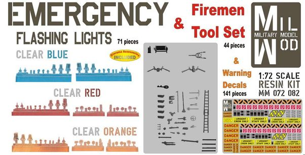 Emergency lights and tool sets for firebrigades  MM072-082