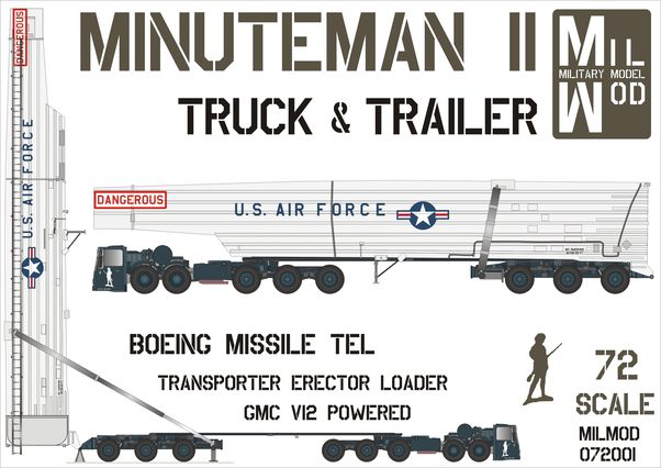 Minuteman II truck and trailer (NEW STOCK ARRIVED - BUT ONLY LIMITED!)  MILMOD072001