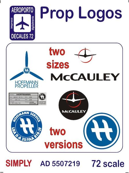 Prop Logos Two Sizes, two versions (McCauley, Hoffman Service)  Ad5507219