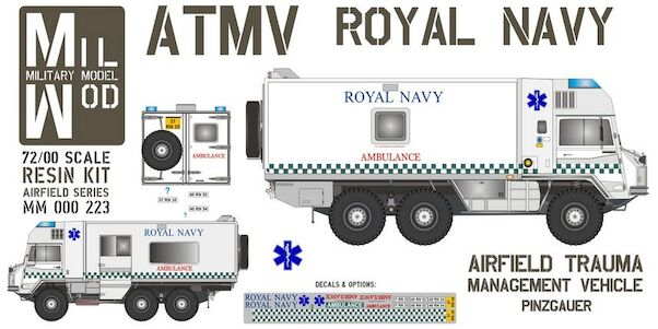 Pinzgauer 6x6 Airfield Trauma Management Vehicle (ATMV) (Royal Navy)  MM000-223