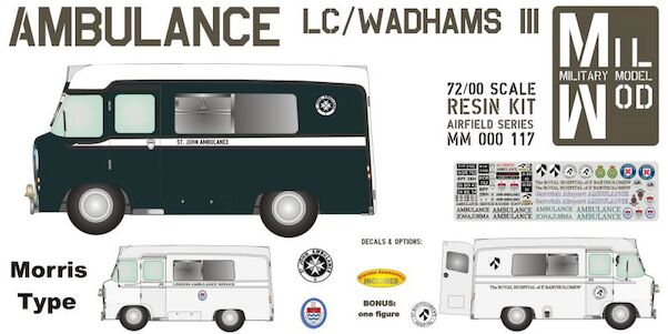 Ambulance LD/Wadhams III Morris type  MM000-117