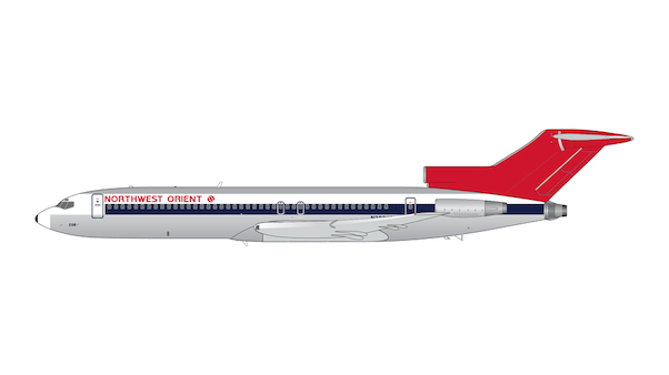 Boeing 727-200 Northwest Orient N298US 1970s, 1980s polished livery  G2NWA334