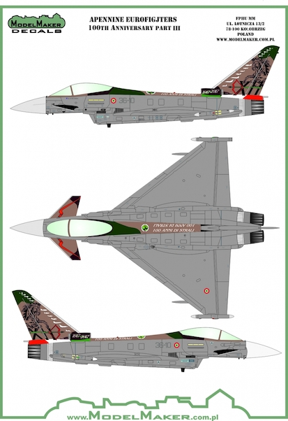 Apenine Eurofighters Italian Air Force  Part 3 100th Anniversary set  MMD-48143