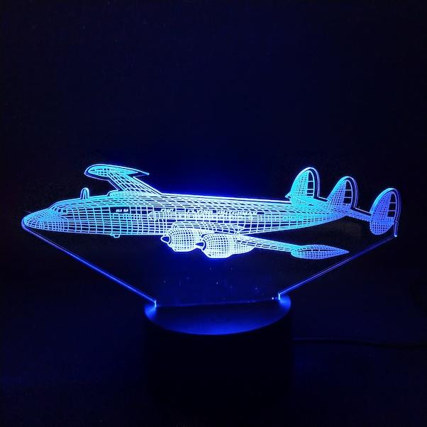 Airplane shape 3d-Led lamp: L1049 Super Constellation KLM Flying Dutchman  LED-CONSTELLATION