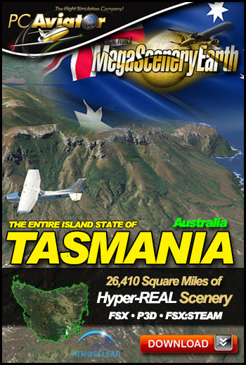Mega Scenery Earth: Tasmania, Australia (Download version) (PC Aviator  tasmania)