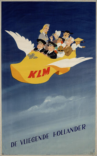 KLM, Vliegende klomp metal poster metal sign  9018