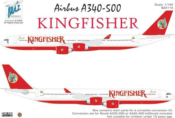 Airbus A340-500 (Kingfisher)  BZ4114