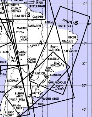 High Altitude Enroute Chart South America SA(HI)5/6