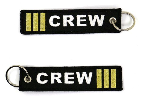 Keyholder with CREW 3-bar (gold)  KEY-3BAR