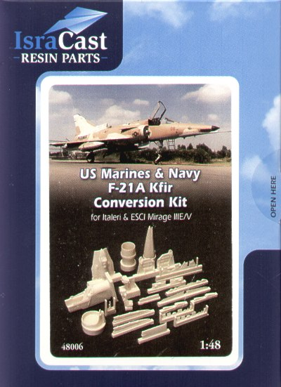 US Marines & US Navy F21A Kfir Conversion kit (Italeri/ESCI Mirage III/V)  48006