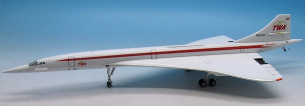 Concorde (TWA Trans World Airlines) N001TW with stand limited to 144 models  IFCONC1115