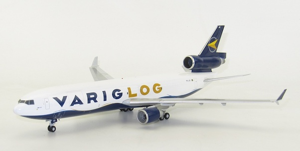 JC WINGS LH2124 1//200 VARIG LOG MCDONNELL DOUGLAS MD-11F PR-LGE WITH STAND