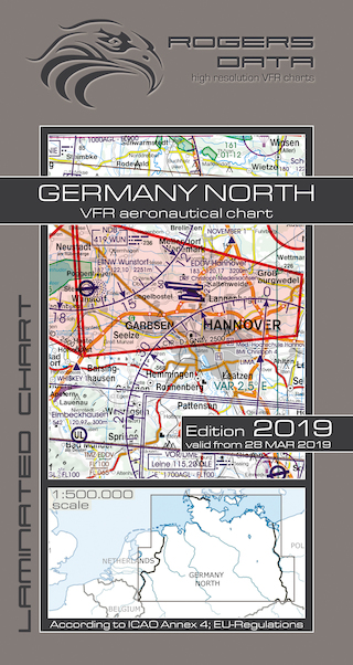 VFR aeronautical chart Germany North 2019  ROGERS-GERM-N