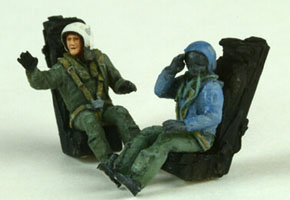 Two French Pilots Modern Sitting  721112