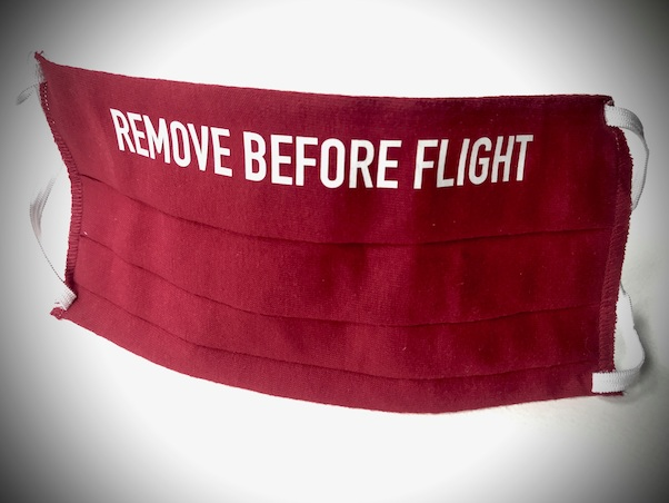 Aviation Face Mask Remove Before Flight (red)  MASK RED