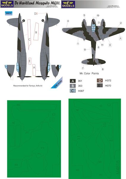DH Mosquito MKVI camouflage Mask  LFM4815