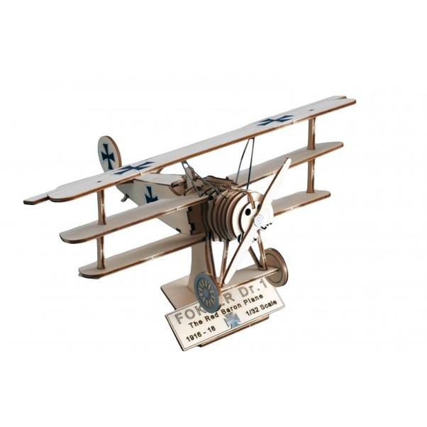 Art and wood Fokker DR1, the Red Baron Plane  30220