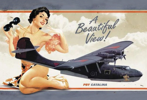 PBY Catalina A Beautiful View! Pin up metal poster metal sign  AV0016