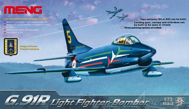 Fiat G91R Light Fighter Bomber (US Army, Luftwaffe, Frecce Tricolore)  DS004