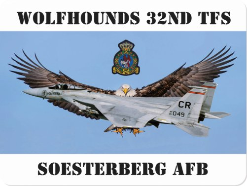 Wolfhounds 32TFS/CR Soesterberg large format foto magnet  MAGNET 32TFS