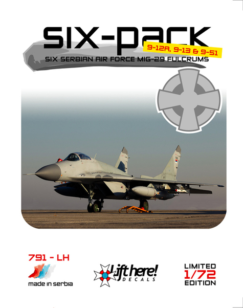 Six Pack,  six Serbian MiG29 Fulcrums  791LH
