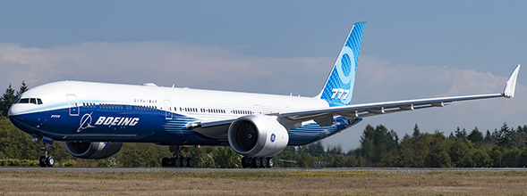 Boeing B777-9x House Color N779XW With Antenna  LH4160